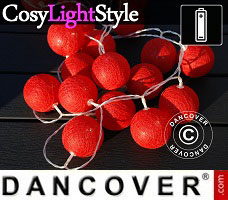 Lampes LED CosyLightStyle multifonction, 10m, 100 billes, blanc chaud